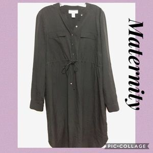 Motherhood Maternity Black Long Sleeve Dress